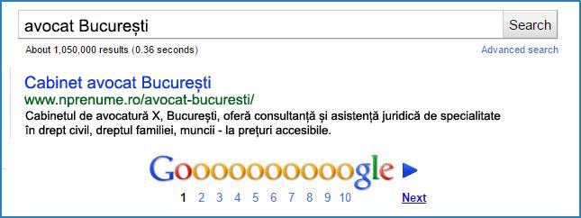 Optimizează titlul, adresa URL, subtitlurile și meta descrierea în conformitate cu regulile pentru Local SEO.